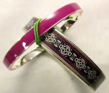 Vera Bradley Bangle set 12911-149 Canterberry Magenta NWT R$48.88