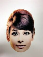 Audrey Hepburn 'Hollywood Film Legend' Fun CARD Single Party Face Mask