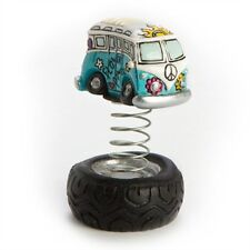KOMBI ON SPRING TYRE VW COMBI WITH GROOVY 60'S INSPIRED DESIGNS 50MMH GREAT GIFT