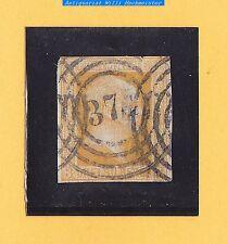 """Preussen 1857 - Mi.Nr.8° orangegelb, gebr.mit NS°378 """"ELTEN"""" ??- Pracht"""