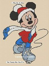 Counted Cross Stitch MICKEY MOUSE GOES SKATING - COMPLETE KIT #10-25 KIT
