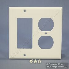 Eagle White 2Gang Decorator GFCI Duplex Receptacle Wallplate Outlet Cover 2157W
