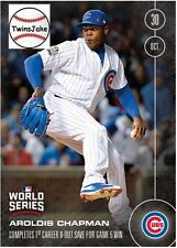 Topps NOW 648A: Aroldis Chapman Completes 1st Career 8-Out Save for Game 5 Win