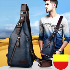 Brand Quality Assurance Men Chest Pack Outdoor Sport Leather Man Shoulder Bags
