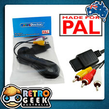 PAL N64 Super Nintendo RCA AV Cable -Video Lead 4 Original SNES Console gamecube