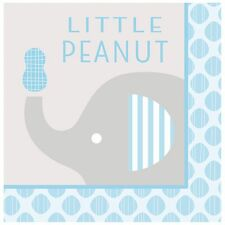 Baby Shower Boy 'Little Peanut' Elephant - Party Luncheon Napkins