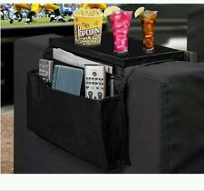NEW Arm Rest Armrest Organiser Couch TV Remote Magazine Rack Holder Drinks Tray