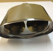 """BMW TYPE STAINLESS STEEL TIP 1 IN 2 OUT  2 1/2""""INLET MT- 2 X 1"""