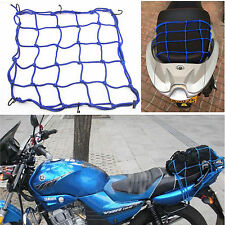 Motorcycle Bike Luggage Rack Fixed Cargo Helmet Blue Storage Elastic 6 Hook Net