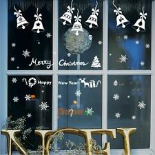 Christmas Bell Romantic Creative Glass Window Wall Store Paper Stickers Decor