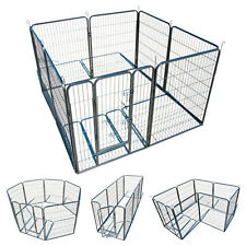 "Large Heavy Duty 8 Panel 40"" Cage Pet Dog Cat Barrier Fence Metal PlayPen Kennel"