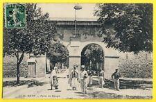 cpa de 1908 ALGÉRIE SÉTIF Porte de BOUGIE Caserne Animés SOLDATS ZOUAVES