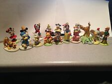 18 1987-88 Disney Porcelain Figurine The Collection Mickey Minnie Mouse Gang