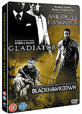American Gangster/Gladiator/Black Hawk Down  2008, 3-Disc Set Steelbook Sealed
