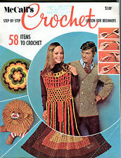McCall's Step-By-Step Crochet Magazine 1970 EX 072016jhe