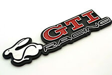 GTI RACING RABBIT Car Side Stripe Rear Tailgate Emblem Badge For VW Golf MK5
