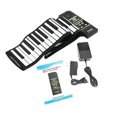 88 Key Electronic Piano Keyboard Silicon Flexible Roll Up with Loud Speaker M7N8