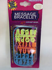 BEAUTIFUL FUN MESSAGE BRACELETS COLOURFUL CREATE YOUR OWN ONE SIZE FITS ALL NEW