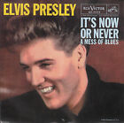 ELVIS PRESLEY It's Now Or Never & A Mess Of Blues PICTURE SLEEVE RED VINYL NEW