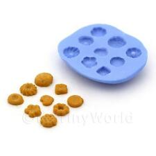 Dolls House Miniature 9 Piece Shortbread Biscuit Silicone Mould