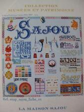 Sajou Heritage Collection Cross Stitch Chart- The History of Maison Sajou