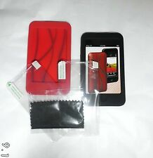 Griffen FlexGrip ipod touch 2nd gen (Twin Pack) Black & Red silicone cases UK