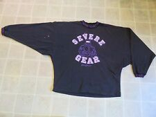 Vtg 80s SEVERE GEAR California SWEATER Mens L Muscle Beach WorkOut Fitness 1980s
