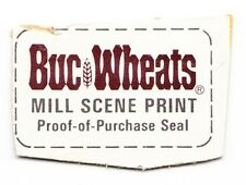 General Mills Buc Wheats Cereal Purchase Seal From Box Late 1970s - Early 1980's