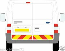 FORD Transit Van capitolo 8/Riflettente POSTERIORI INFERIORI Chevron Kit Grafica Decalcomania