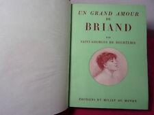 Saint-Georges de Bouhélier Un Grand Amour de Briand