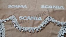 Set Of 3 Beige Curtains With White Tassels  And Logo For SCANIA ALL SERIES