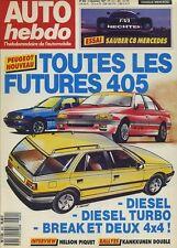 AUTO HEBDO n°602 du 2 Décembre 1987 SAUBER C8 RAC RALLY