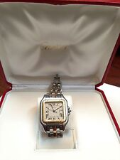 100% Authentic Cartier Panthere Jumbo Men Watch . Stainless Steel / 18K gold