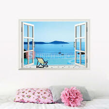 3D Finestra Barca Mare Adesivi Murali Adesivo Wall Stickers Decor Removibile