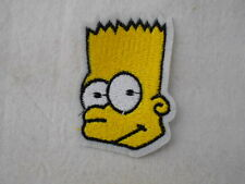 BART SIMPSON  NEW EMBROIDERED IRON/SEW ON NAME PATCH