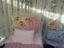 Vintage French Full Length Lacy Curtain. Very wide, very long. (A)
