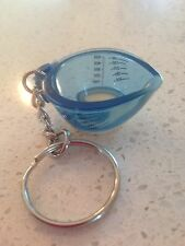 Tupperware Key Chain Blue Measuring Cup Collectible New Keychain Measure Pitcher