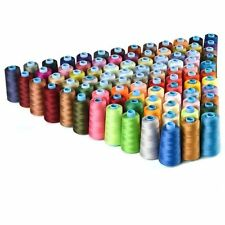 40 Spools Mixed Colors 100% Polyester Sewing Quilting Threads Set All Purpose