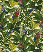 Grandeco Exotic Red Wallpaper A11502 - Tropical Forest Parrots Birds