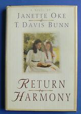 Return to Harmony,Janette Oke & T.Davis Bunn, Nice HB w/DJ
