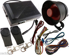 1-Way Car Alarm Protection Security System Keyless Entry Siren +2 Remote Control