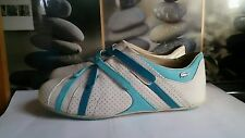 Ladies Lacoste White/Blue Velcro Fastening Trainers.... Size 4 (37)