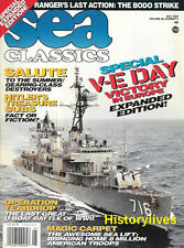 Sea Classics May95 V-E Day Europe Hitler Treasure Subs Ranger Bodo Strike U-Boat