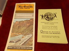 PAIR OF OLD VTG RAILROAD BOOKS/BOOKLETS, DRGW RR, ORDER OF RAILWAY CONDUCTORS