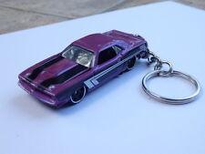 Hot Wheels Car 70 Plymouth AAR Cuda Keychain Keyring Key Fob