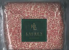 Ralph Lauren San Luca Scroll Coral Red Beige King Bed Skirt 1st Quality New