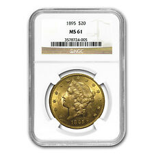 $20 Gold Liberty Double Eagle Coin - Random Year - MS-61 NGC - SKU #23232