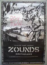 TOUR-MANIFESTO anarco-punk Zounds Crass Berlino Weisbecker-casa 2003