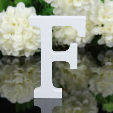 White Wooden Letters F Alphabet Freestanding Home Decoration Wedding Birthday B1