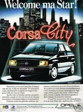 Publicité advertising 1987 Opel Corsa City